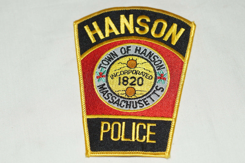 US Town of Hanson Massachusetts Police Patch