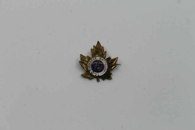 WW1 Canadian CEF 75th Battalion Sweetheart Pin Badge