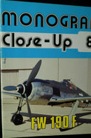 WW2 Germany Monogram Close Up 8 FW 190F Reference Book