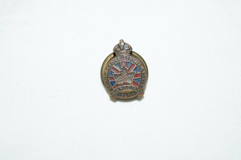 WW1 Canadian CEF British Empire Service League Pin