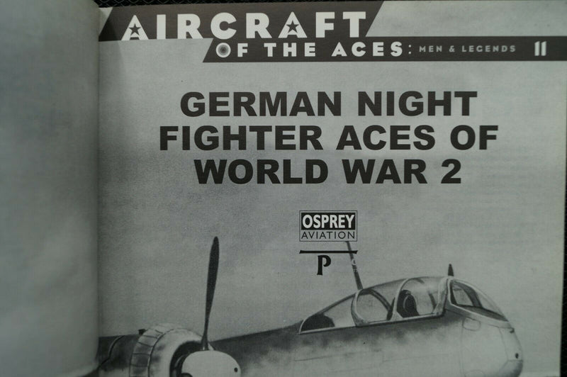 WW2 Germany German Night Fighter Aces Of World War 2 Reference Book