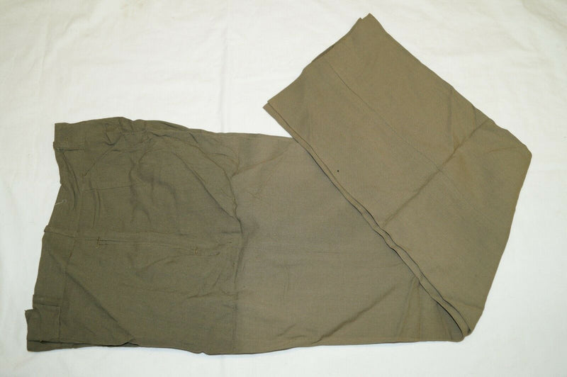 Post WW2 Canadian Tropical Worsted Summer Khaki Trousers 28 W x 30 L
