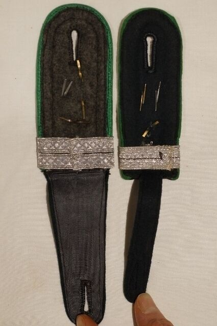 WW2 German 17th Jager Officer Candidate Shoulder Boards Pair