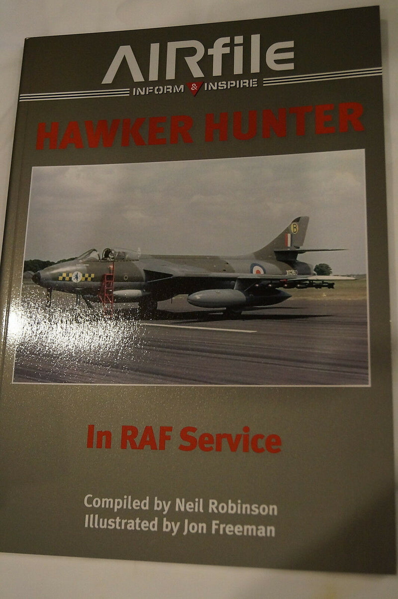 British RAF Hawker Hunter Jet Fighter in RAF Service Reference Book