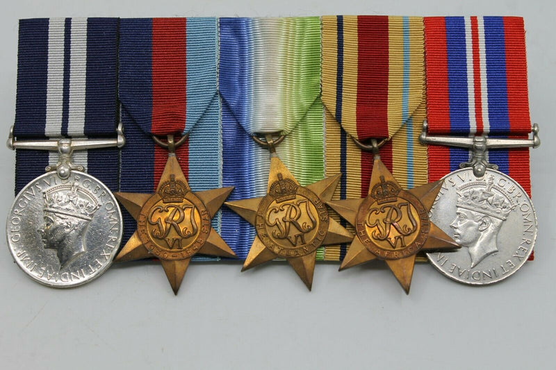 WW2 British Royal Navy DSM Distinguished Service Medal Group Submarine Action