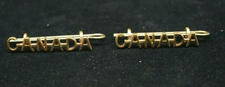 WW1 Canadian Nursing Sisters Canada Shoulder Title Pair