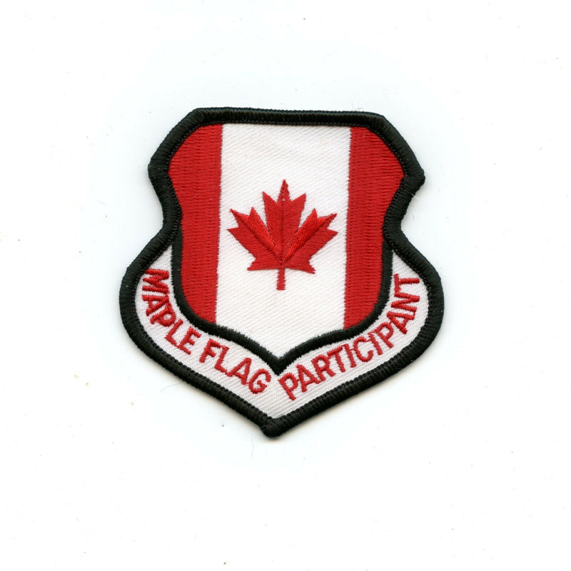 RCAF CAF Canadian 4 Wing Cold Lake Maple Flag Participant Colour Crest Patch