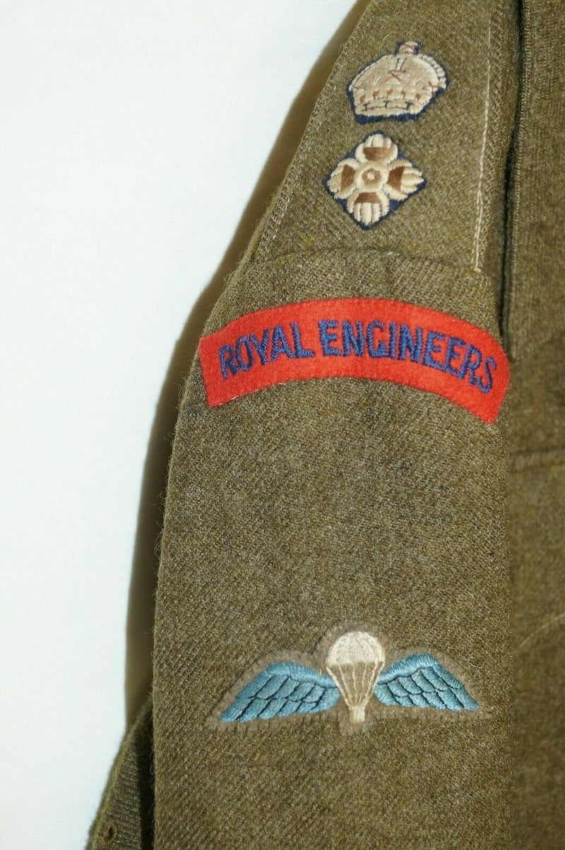 WW2 British Royal Engineers Lt Col Battle Dress Airborne Qualified Decorated