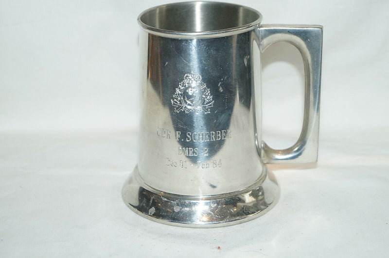Canadian Forces RCN  Presentation Tankard To CDR F Scherber