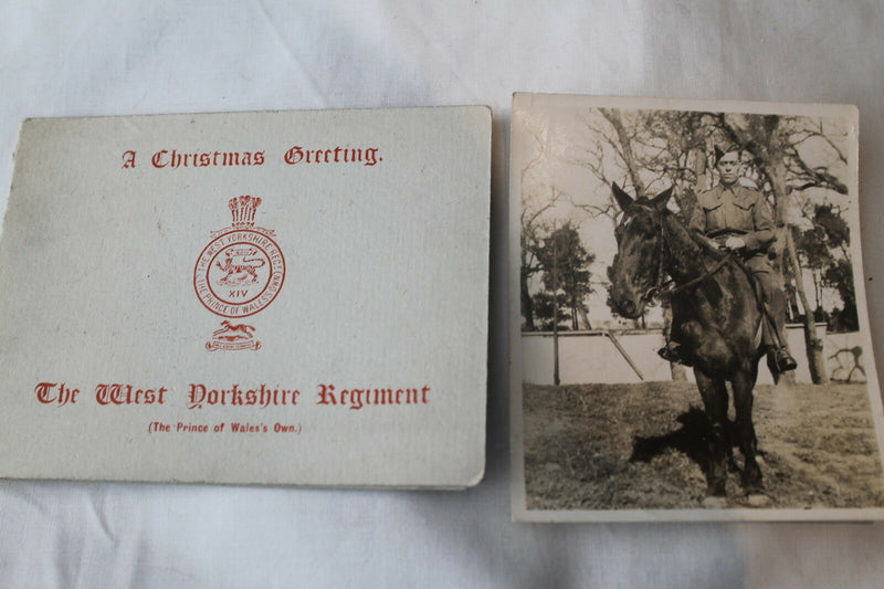 WW2 British West Yorkshire Regiment Prince of Wales Own Christmas Card