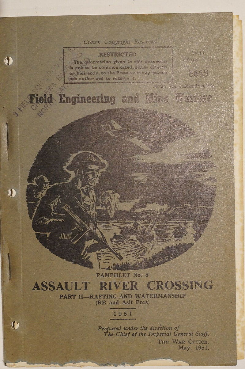Canadian Field Engineering Mine Warfare River Crossing Pt.II 1951 Reference Book