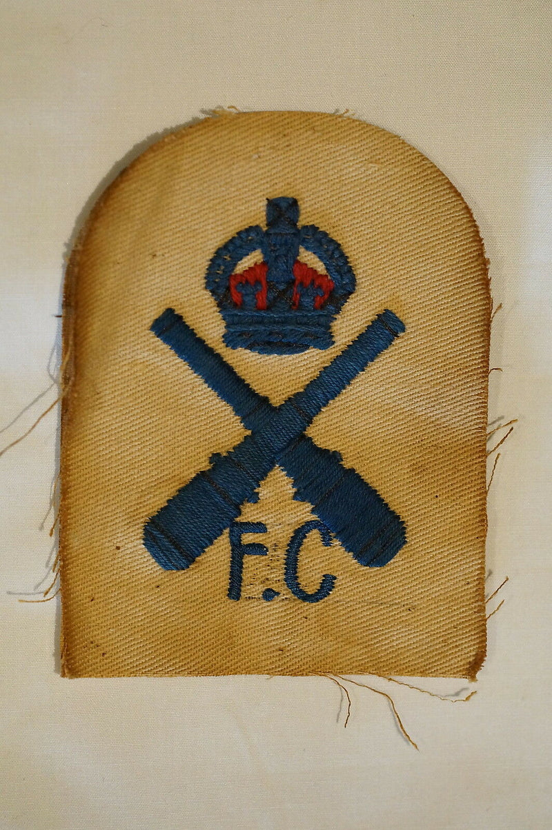 WW2 British FC Fire Control Armourer Insignia Patch