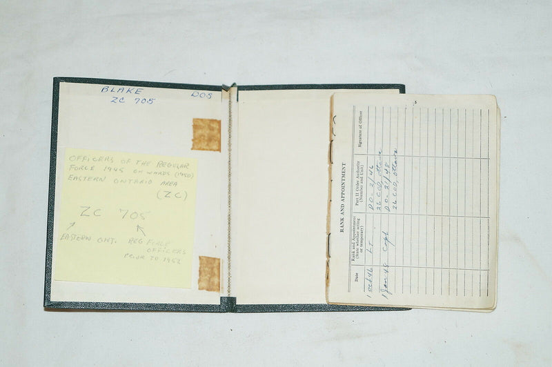 Post WW2 Canadian Army Service Pay And Medical Record Book Named To Blake ZC705
