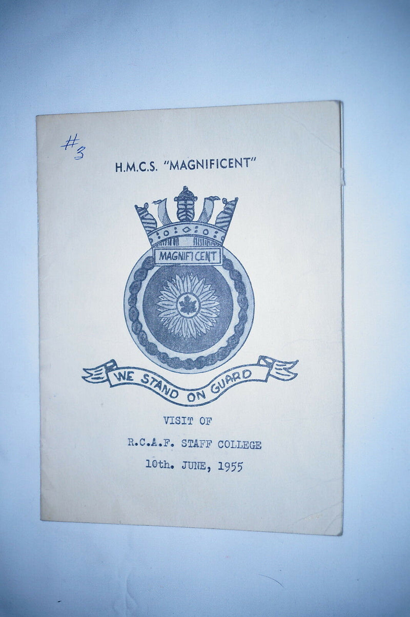 Post Korea Canadian Navy RCN HMCS Magnificent Booklet Reference Book