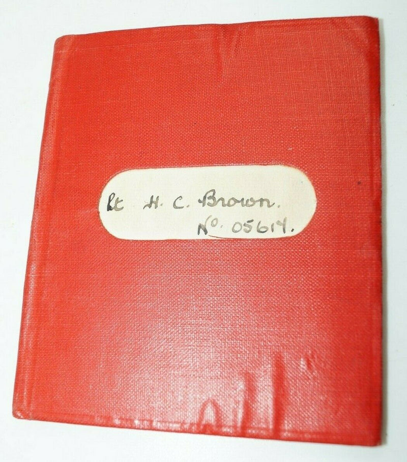 WW2 Canadian Signals Officer Accounts Pay Book Named