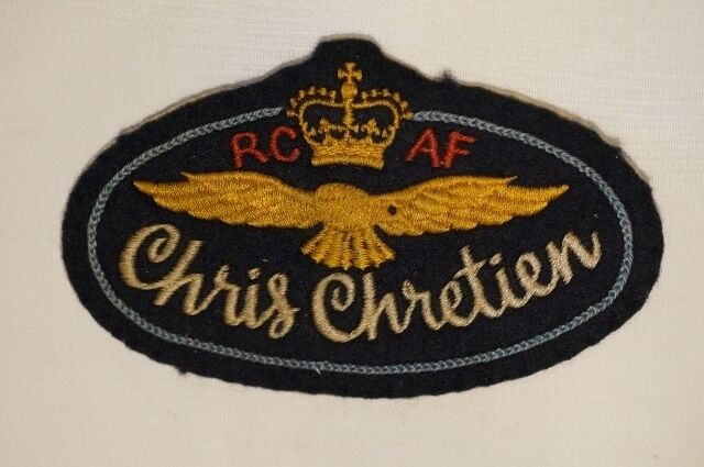 Post WW2 Canadian RCAF Name Tag Chris Chretien