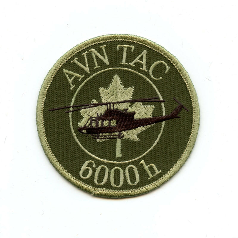 RCAF CAF Canadian 6000 Hrs Aviation Tactical French Squadron OD Crest Patch