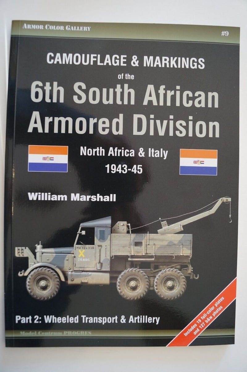 WW2 Camouflage & Markings 6th South African Armoured Division p 2 Reference Book