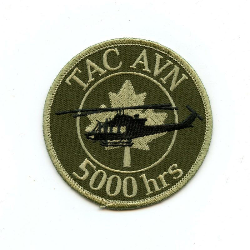 RCAF CAF Canadian 5000 Hrs Tactical Aviation English Squadron OD Crest Patch