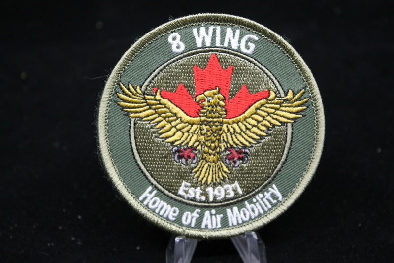 Canadian RCAF 8 Wing OD Crest Patch