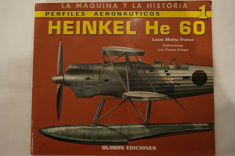 WW2 German Heinkel He 60 Seaplane Aircraft Spanish Reference Book