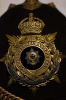 Pre WW1 British Officers Home Service Helmet Worcestershire Regt Named with Tin