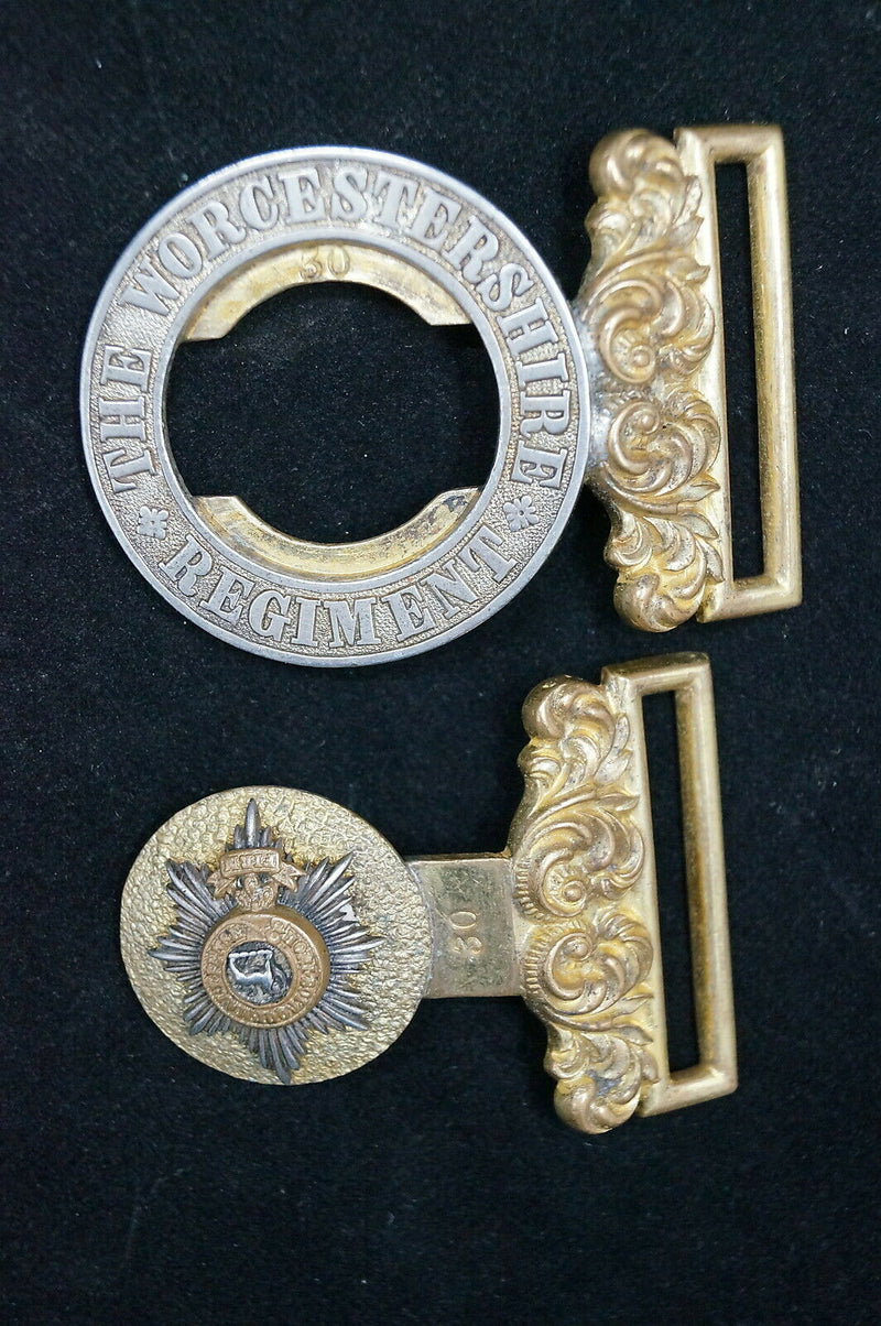 Victorian British Worcestershire Regiment Officers Belt Buckle