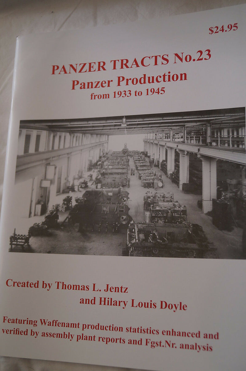 WW2 German Panzer Tank Production 23 Panzer Tracts Reference Book