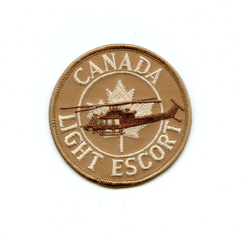 RCAF CAF Canadian 408 427 439 Squadron Light Escort Tan Helicopter Crest Patch
