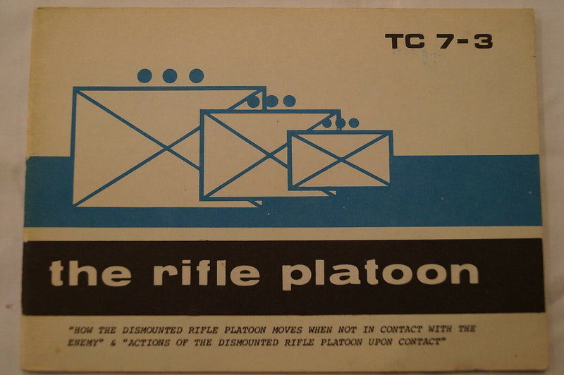 US Army Rifle Platoon TC 7-3 Reference Book