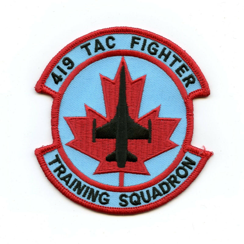 RCAF CAF Canadian 419 TAC Fighter Training Squadron Colour Crest Patch