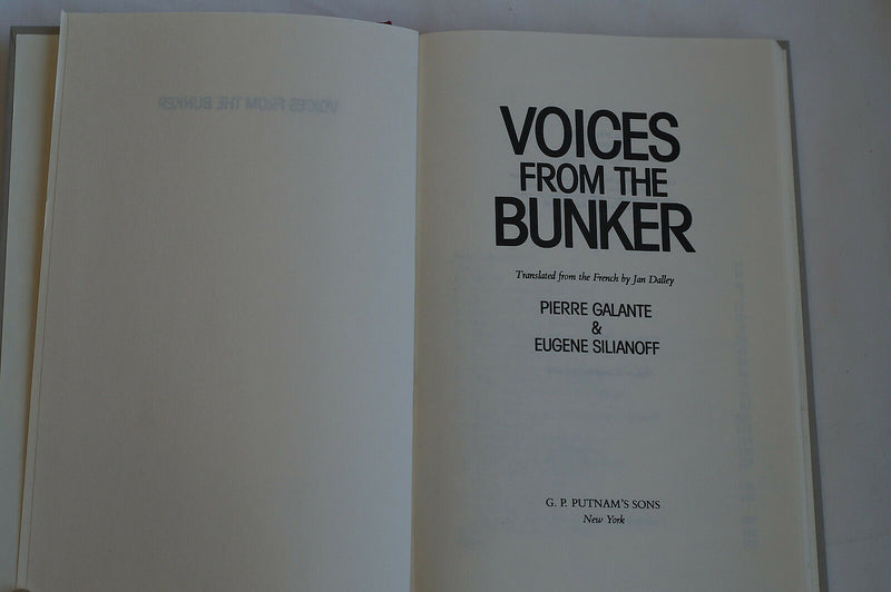 WW2 German Voices from the Bunker Reference Book