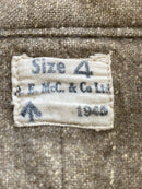 WW2 British Army Other Wool Ranks Shirt Size 4 Dated 1945
