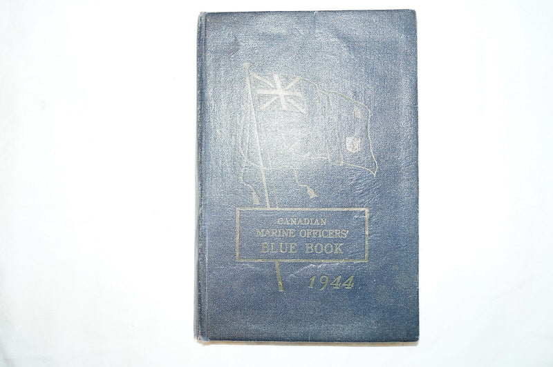 WW2 Canada Canadian Marine Officer's Blue Book 1944 Reference Book