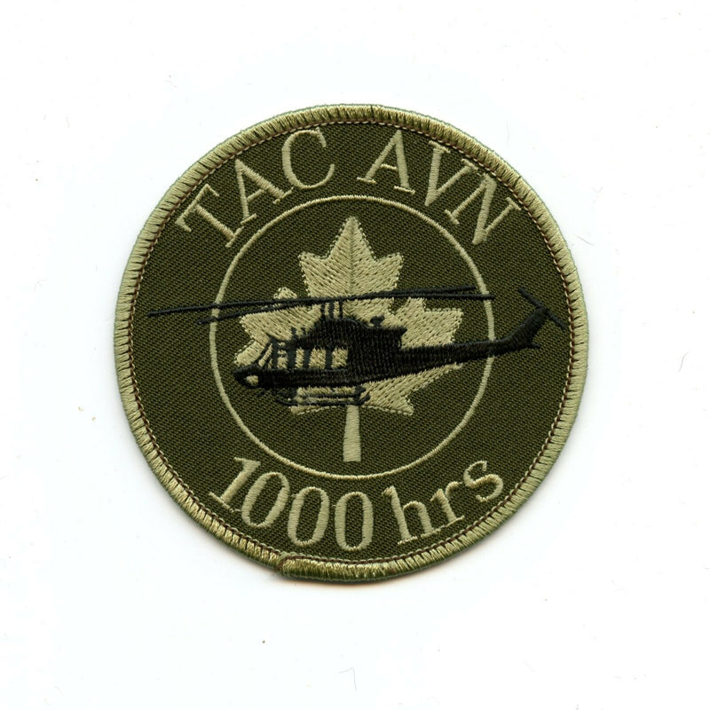 RCAF CAF Canadian 1000 Hrs Tactical Aviation English Squadron OD Crest Patch