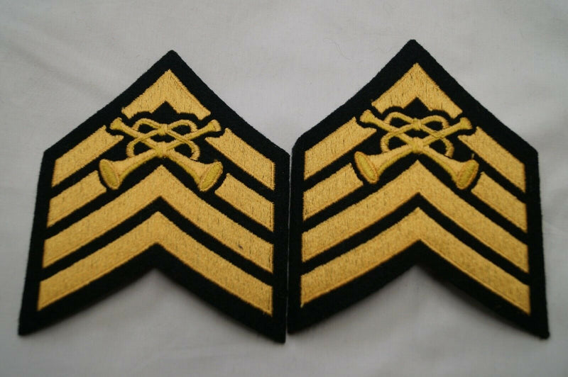 Canadian Forces Army Bugle Majors Rank Insignia Pair