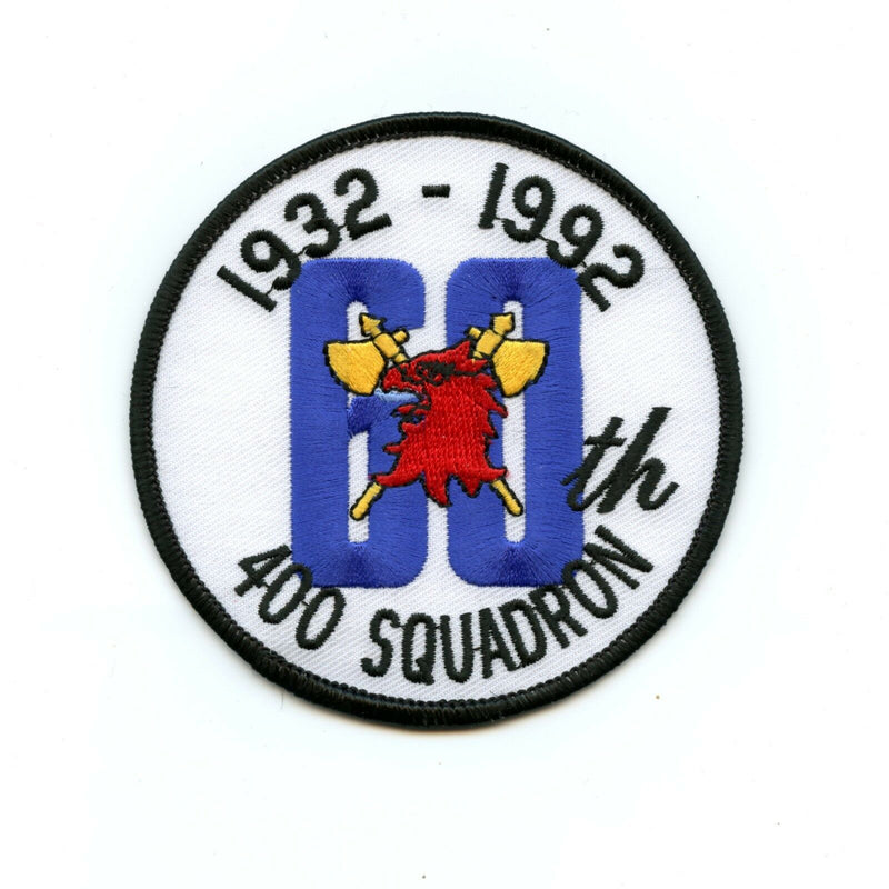 RCAF CAF Canadian 400 Squadron 60th Anniversary Colour Crest Patch