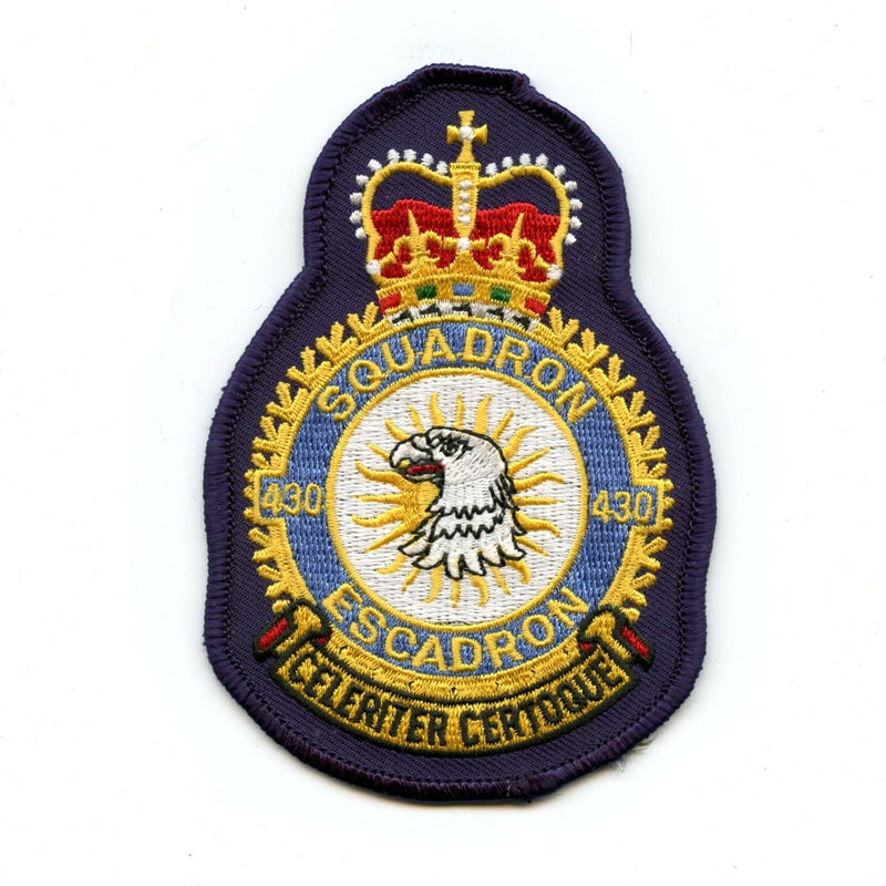 RCAF CAF Canadian 430 Squadron Heraldic Colour Crest Patch