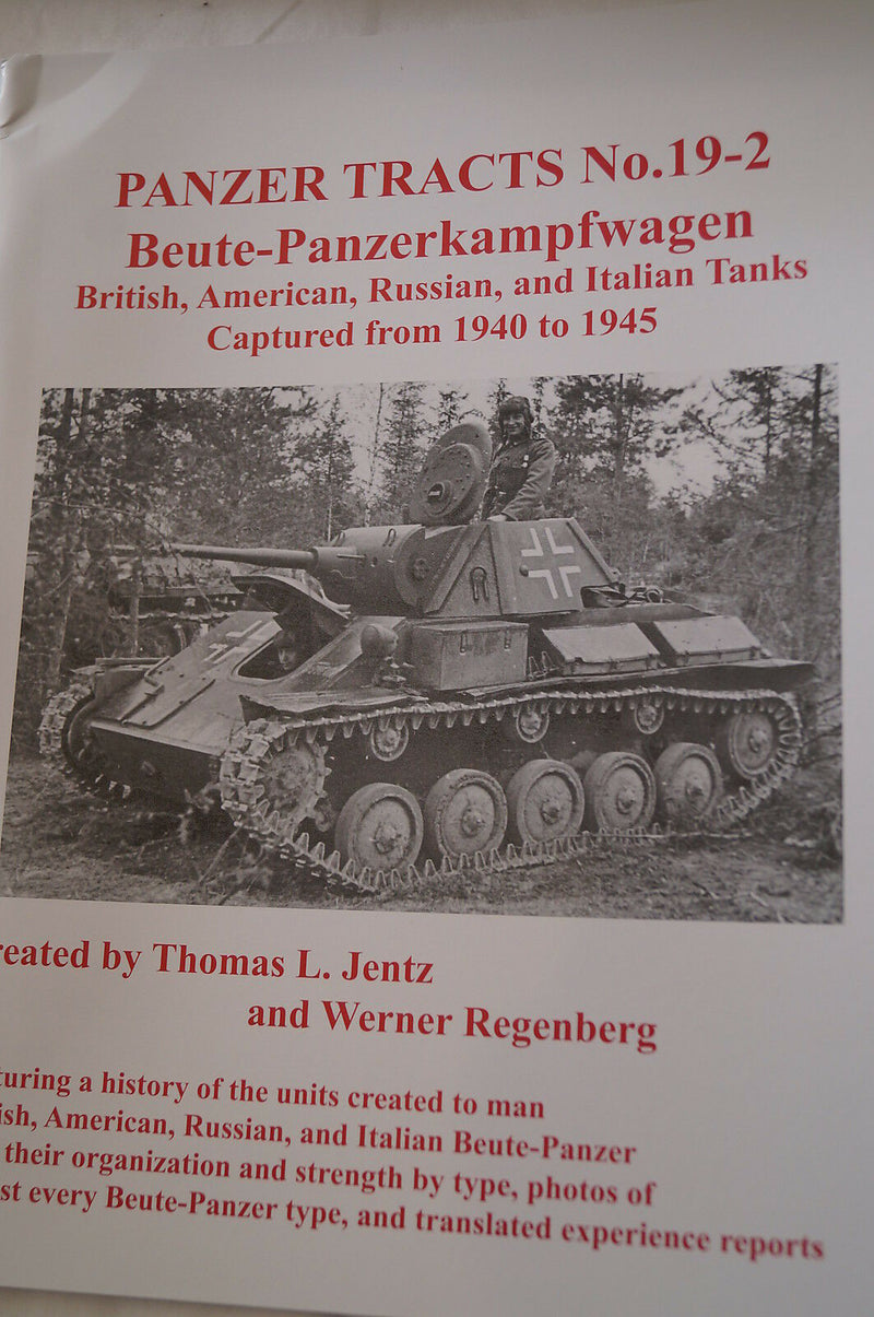 WW2 German Buete Panzerkampfwagen 19-2 Panzer Tracts Reference Book