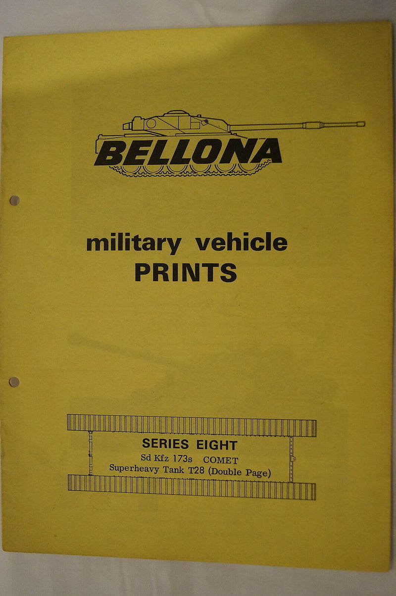 Military Vehicle Prints Sd Kfz Comet T28 Armoured Tanks Reference Book