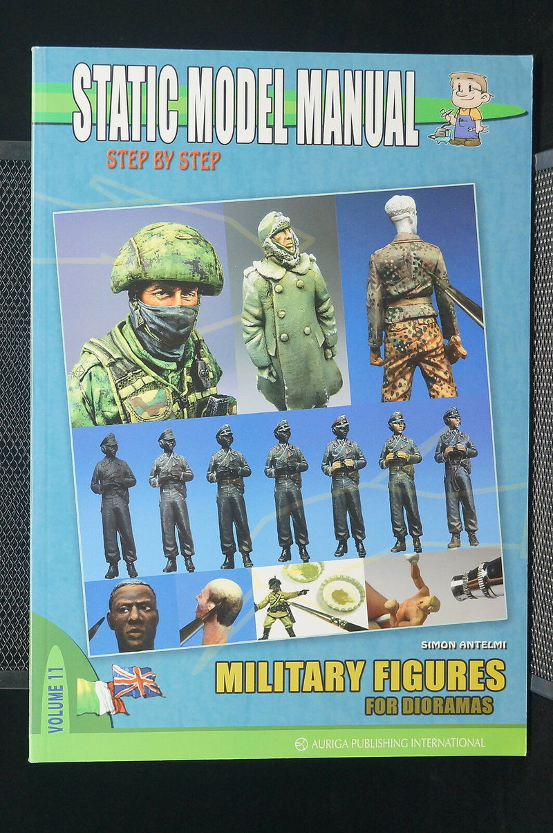Static Model Military Figures For Dioramas Vol 11 Reference Book