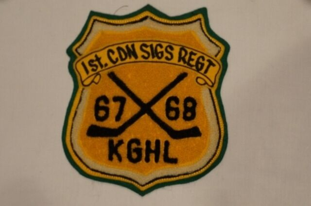 1st Canadian Signals Regiment Kingston General Hockey League 1967-68