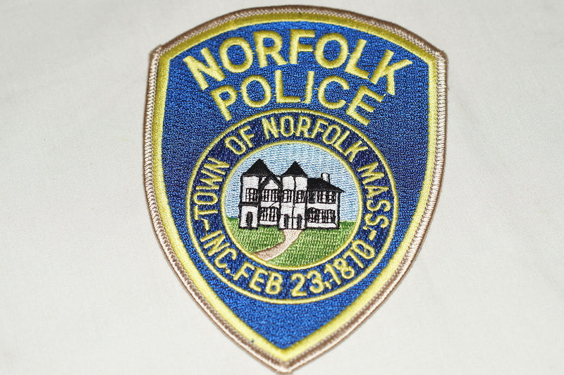 US Town of Norfolk Massachusetts Police Patch