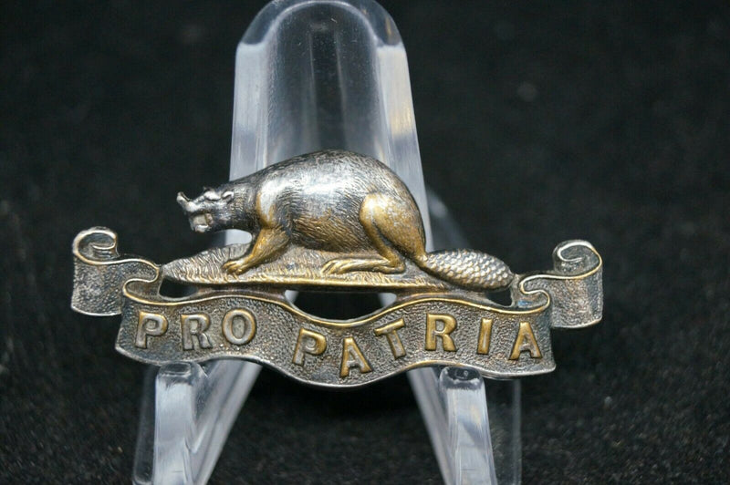 WW1 Canadian Royal Canadian Regiment Officers Collar Badge
