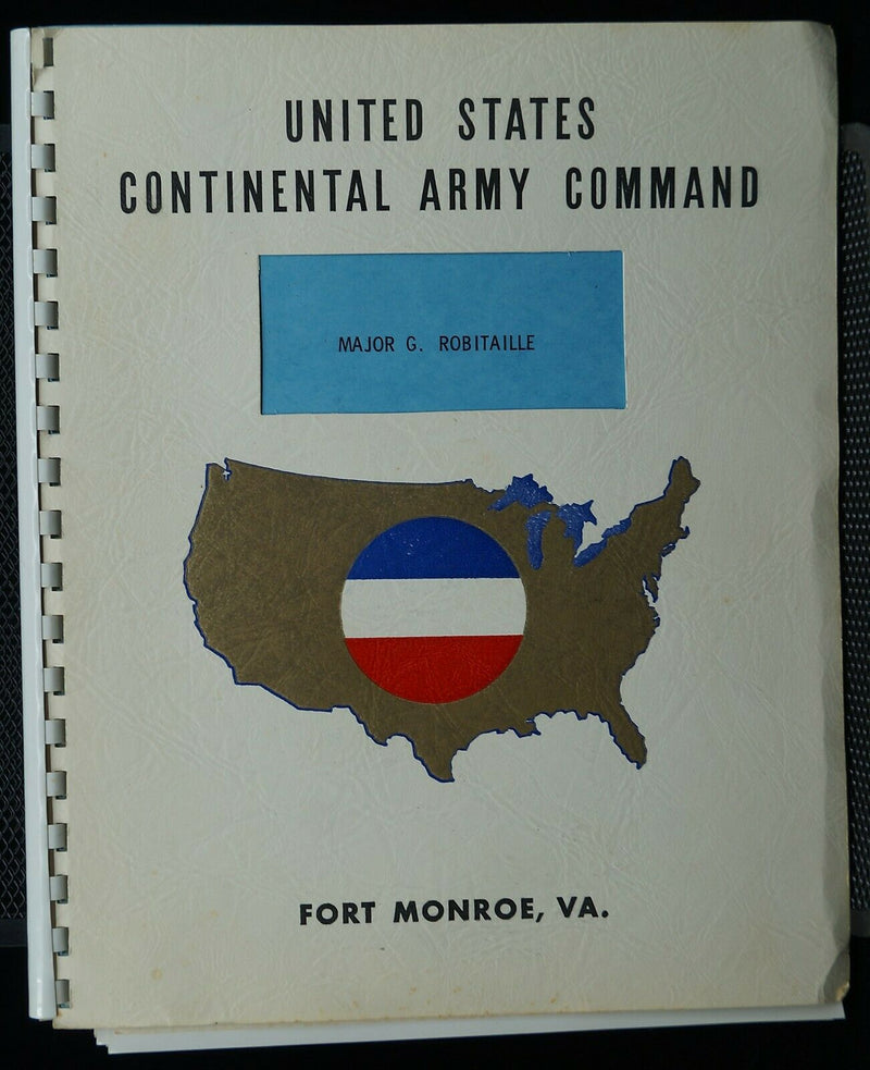 Cold War United States Continental Army Command Photos and Reference Book