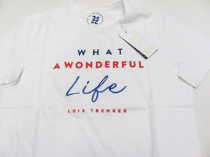 Luis Trenker T-Shirt kurzarm Modell Manfred Regular weiss A Wonderful Life