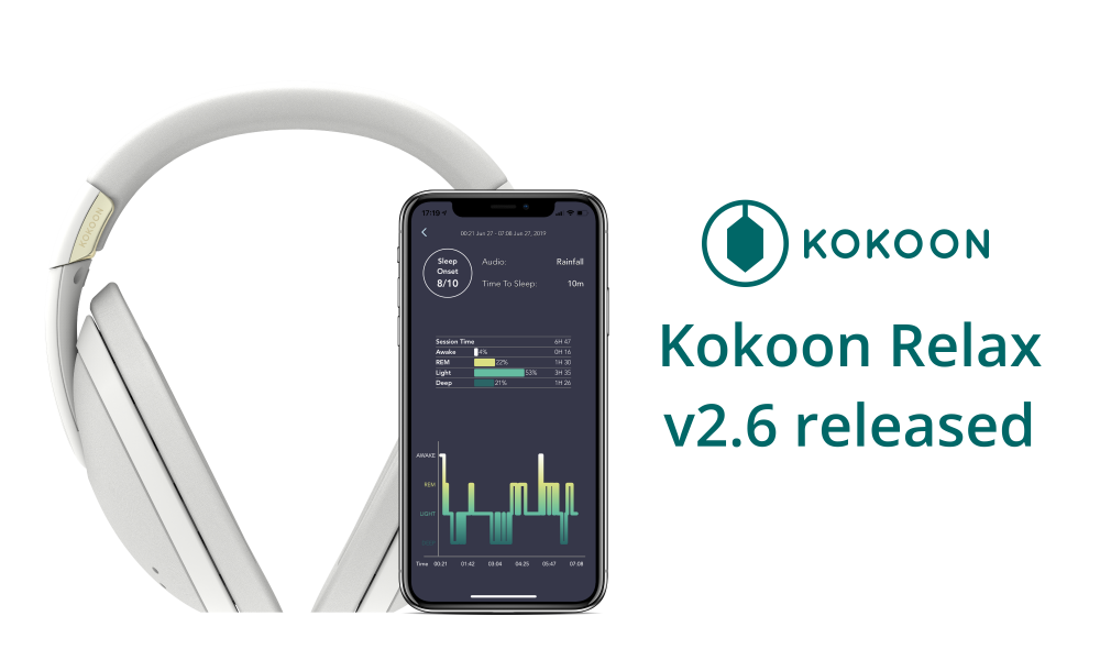 Kokoon Relax Version 2.6: Intelligent Sleep