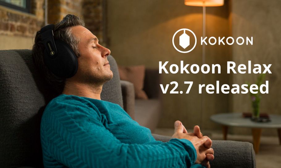 Kokoon Relax Version 2.7: Better Sound to Sleep