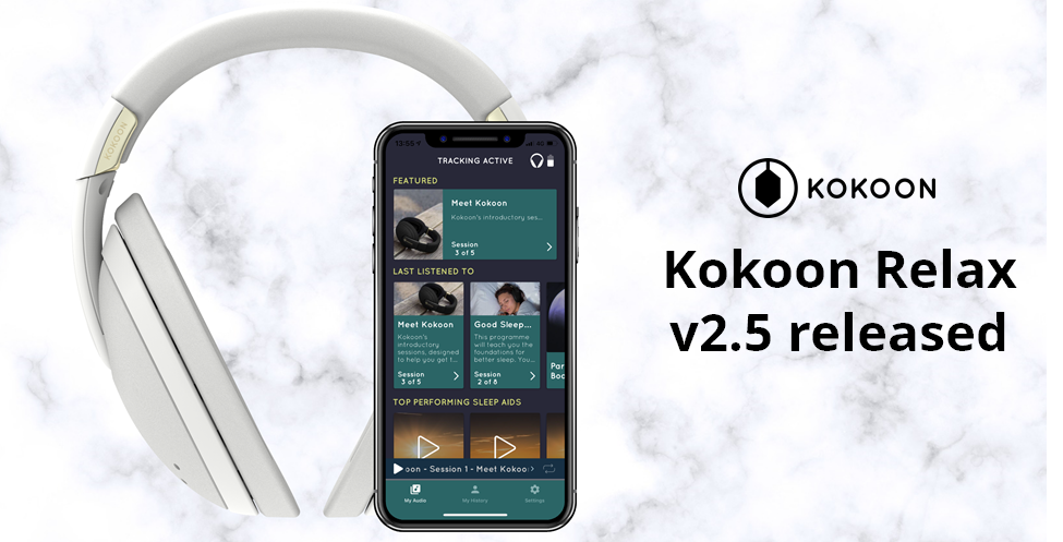Kokoon Relax mobile app v2.5 release - May 2019