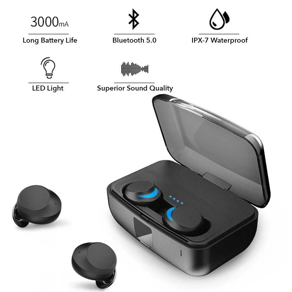 Bluetooth Earbuds 2-in-1 Power Bank